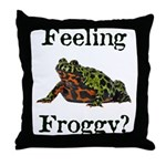 Feeling Froggy? Throw Pillow
