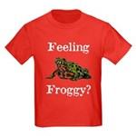 Feeling Froggy? Kids Dark T-Shirt