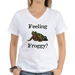 Feeling Froggy? Women's V-Neck T-Shirt