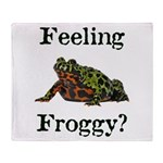 Feeling Froggy? Throw Blanket
