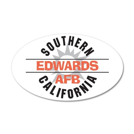 Edwards Air Force Base 38.5 x 24.5 Oval Wall Peel