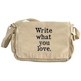 Write What You Love Messenger Bag