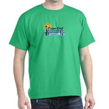 Cape Cod MA - Pier Design T-Shirt