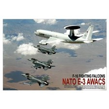 "35"" x 23"" E-3 AWACS + F-16s"