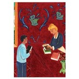 Matisse-inspired Library Book Check-Out