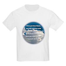 """""""Leonardo Da Vinci Quote"""" Kids T-Shirt"""