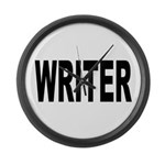 Writer Large Wall Clock
