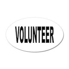 Volunteer 38.5 x 24.5 Oval Wall Peel