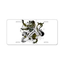Campbell Tartan Lion Aluminum License Plate