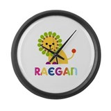 Raegan the Lion Large Wall Clock