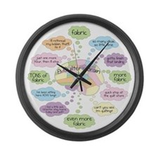 Cool Sew Large Wall Clock