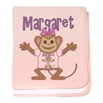 Little Monkey Margaret baby blanket