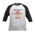 Little Monkey Margaret Kids Baseball Jersey
