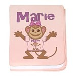 Little Monkey Marie baby blanket