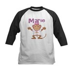 Little Monkey Marie Kids Baseball Jersey