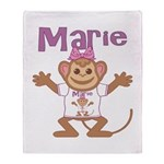 Little Monkey Marie Throw Blanket