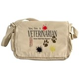 Yes I'm A Veterinarian Messenger Bag