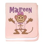 Little Monkey Maureen baby blanket
