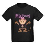 Little Monkey Maureen Kids Dark T-Shirt