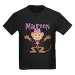 Little Monkey Maureen Kids Dark T-Shirt