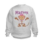 Little Monkey Maureen Kids Sweatshirt