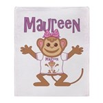 Little Monkey Maureen Throw Blanket