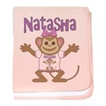 Little Monkey Natasha baby blanket