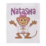 Little Monkey Natasha Throw Blanket