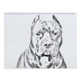Pit Bull Head Wall Calendar