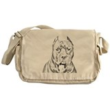 Pit Bull Head Messenger Bag