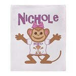 Little Monkey Nichole Throw Blanket