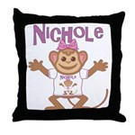 Little Monkey Nichole Throw Pillow