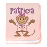 Little Monkey Patricia baby blanket
