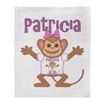 Little Monkey Patricia Throw Blanket
