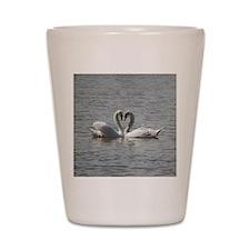 Swans in Love Shot Glass