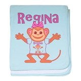 Little Monkey Regina baby blanket