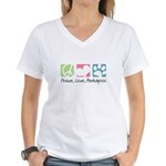 Peace, Love, Peekapoos Women's V-Neck T-Shirt