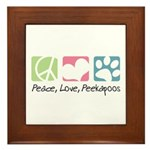 Peace, Love, Peekapoos Framed Tile