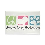 Peace, Love, Peekapoos Rectangle Magnet (10 pack)