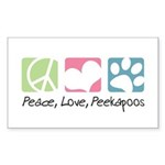 Peace, Love, Peekapoos Sticker (Rectangle)