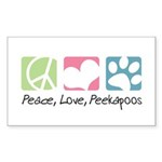 Peace, Love, Peekapoos Sticker (Rectangle 50 pk)