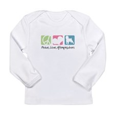 Peace, Love, Affenpinschers Long Sleeve Infant T-S