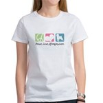 Peace, Love, Affenpinschers Women's T-Shirt
