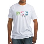 Peace, Love, Affenpinschers Fitted T-Shirt