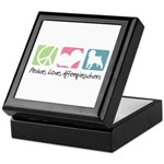 Peace, Love, Affenpinschers Keepsake Box
