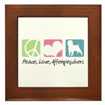 Peace, Love, Affenpinschers Framed Tile