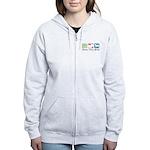 Peace, Love, Akitas Women's Zip Hoodie