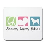 Peace, Love, Akitas Mousepad