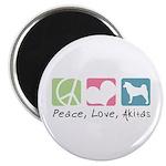 Peace, Love, Akitas Magnet
