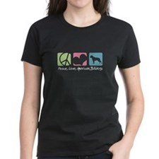 Peace, Love, American Bulldogs Tee